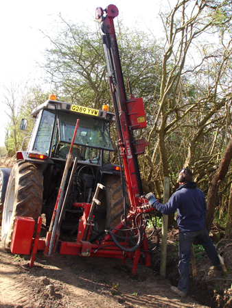 We can employ heavy machinery to ensure otter fencing is deeply bedded.