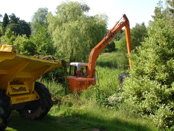 Long-reach excavation equipment allows access to water in a range of scenarios.